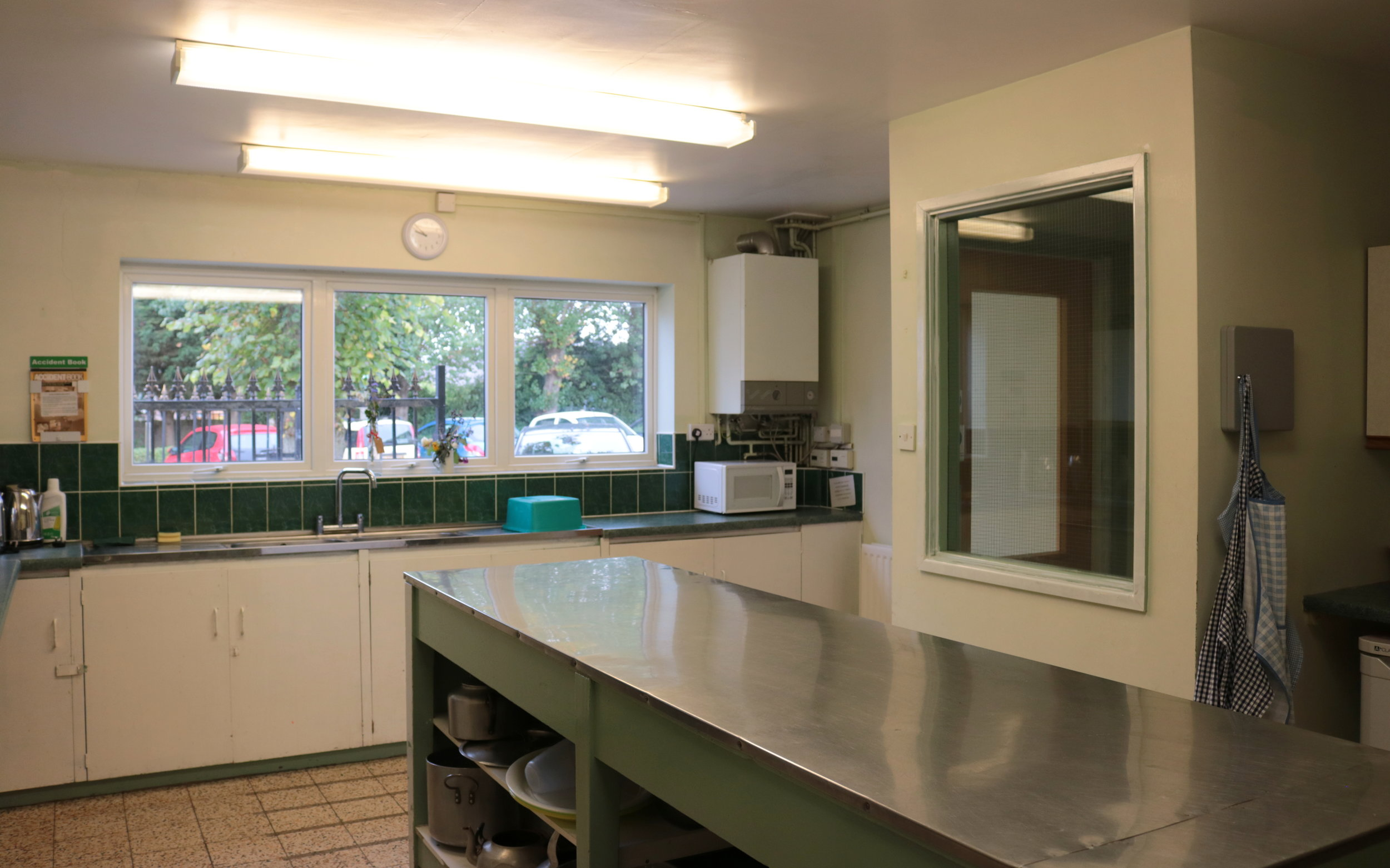 kitchen facilities - Both our halls have separate kitchens included in our hire cost - so you'll never be short of tea and coffee!