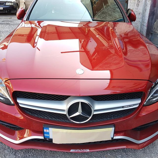 Lovely car then the not fastened back gate struck #mercedes #car repairs #car paintwork