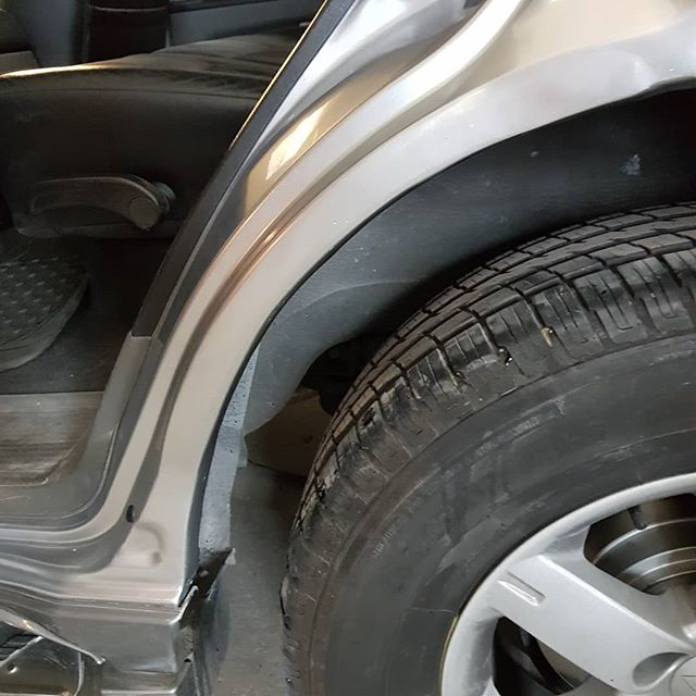 Before during & after rear arches on a much loved Shogun #Shogun #rust repairs