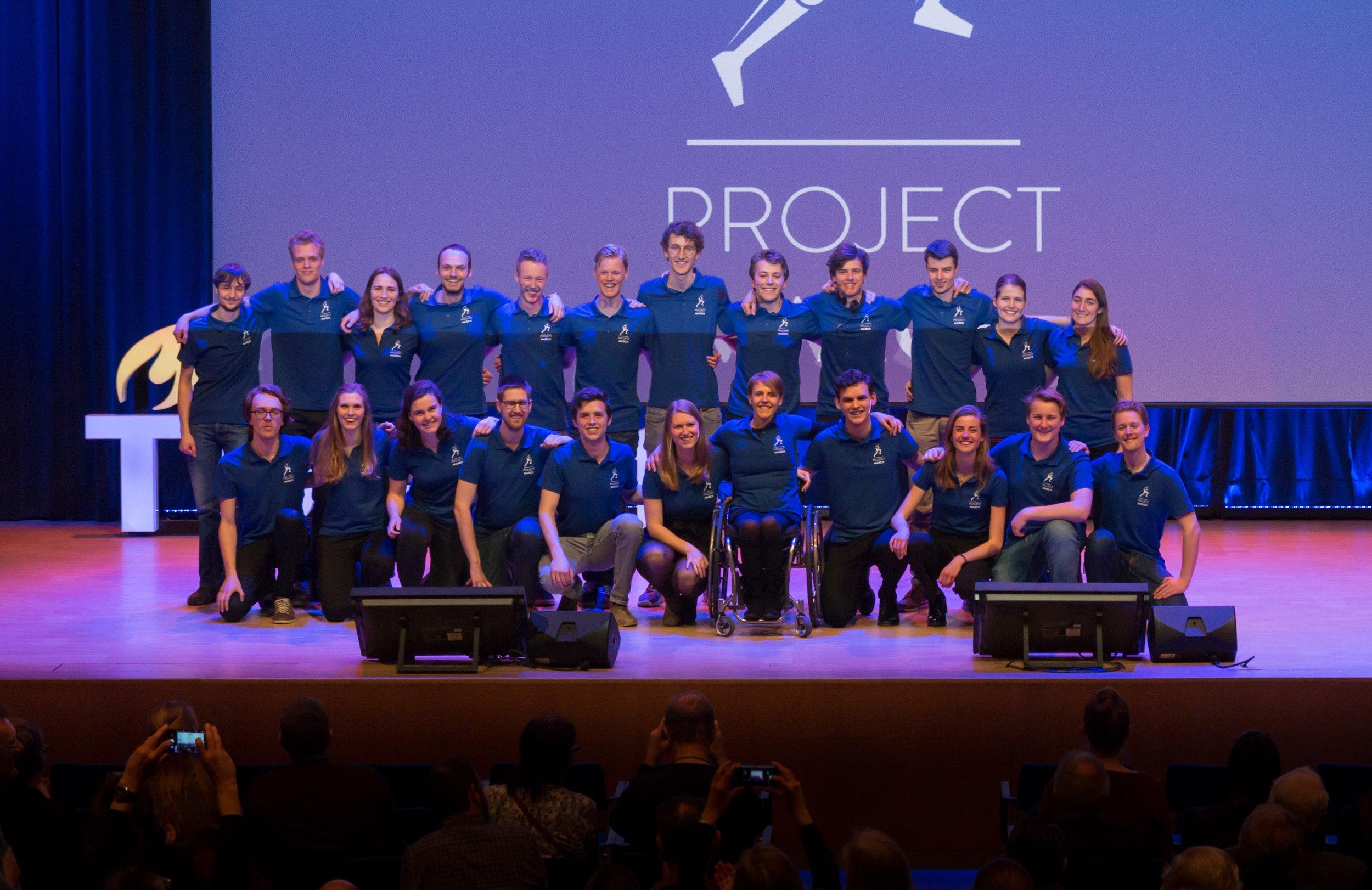 Teamfoto bij de Design Presentatie 2018.
