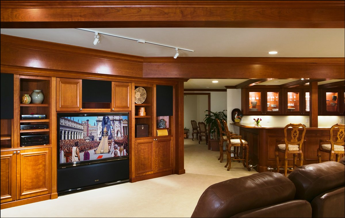 Cabinetry - Our custom wooden cabinets are grain-matched and, often, exotic, adding the perfect finishing touch to any living room, office, kitchen, bar area or bathroom.