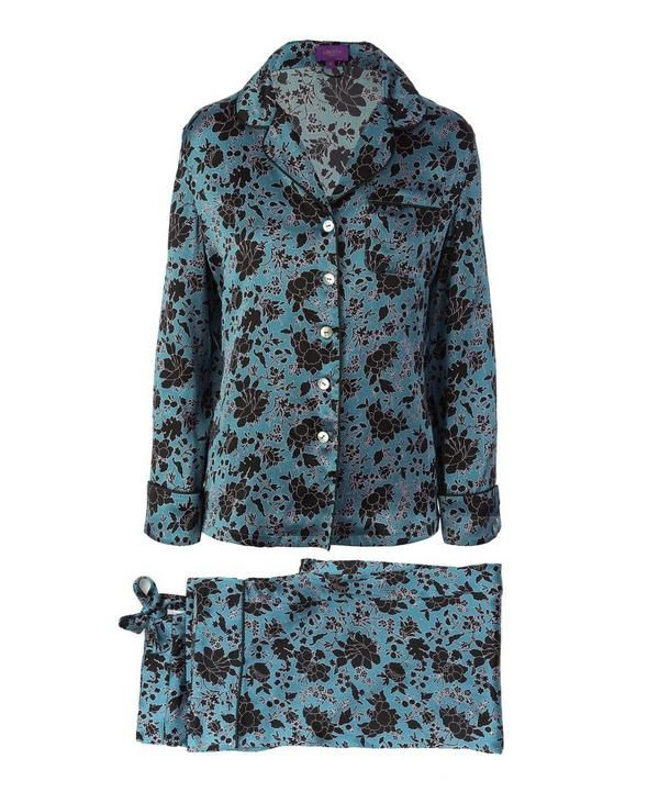Liberty London Long Silk Pajama Set  $475  Nothing screams luxury like a pair of silk jim jams. Plus, this season, pajamas are a legitimate party outfit. So maybe I'll take these for a spin outside, too!