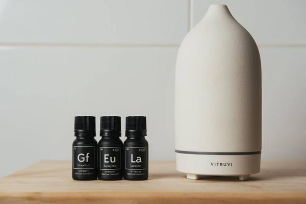 Vitruvi Stone Diffuser  $119  I fell in love with Corrie's beautiful Vitruvi diffuser, and now I want one for myself. Fun fact: we diffuse the Boost blend during our Haven brainstorming sessions.
