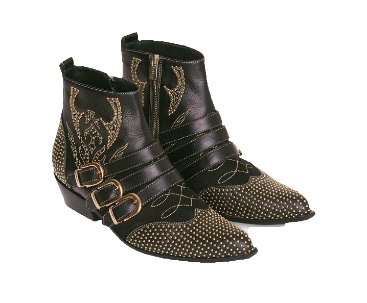 Anine Bing Penny boots , $699  The buckles! The embroidery! The gold hardware! I've been dreaming about these boots for months. I'd pair them skinny jeans and an oversized blazer for ultimate rock chick vibes.