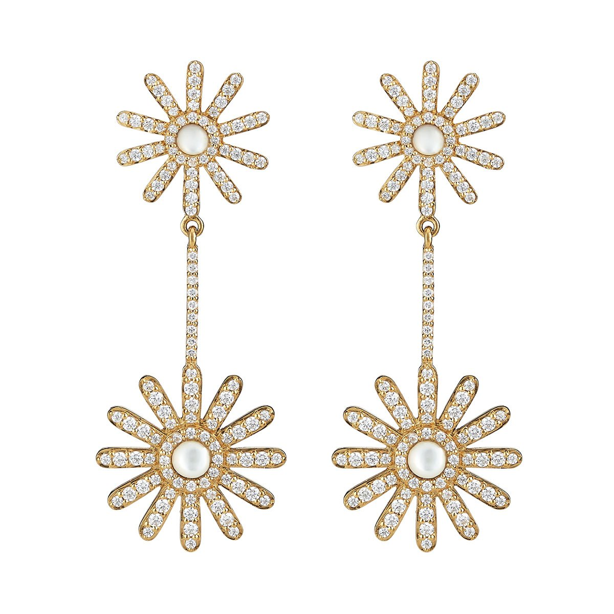 Daisy Pave earrings , Asha $295  Local brand Asha wins my prize for the most covetable bling. I'll be making a (glamorous) statement with these pavé earrings.