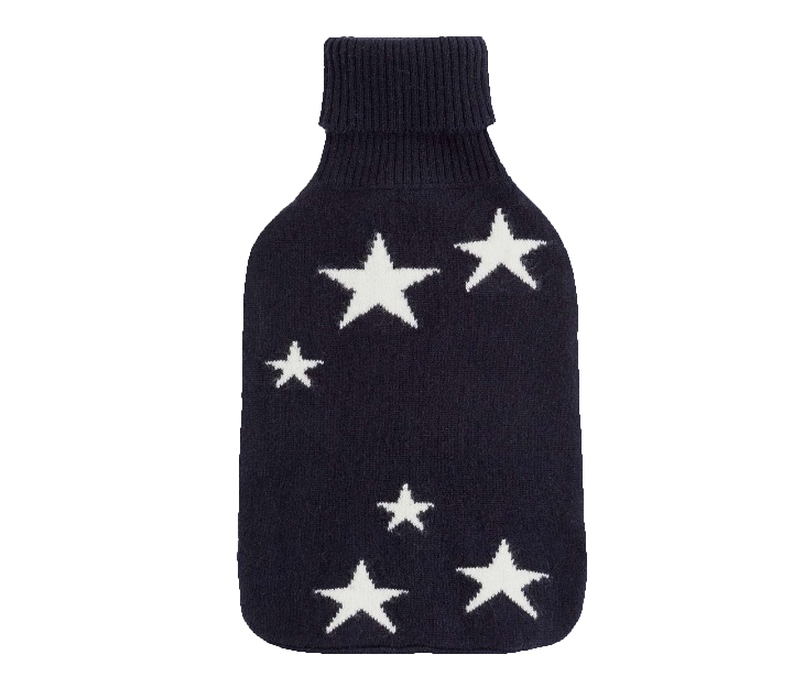 Chinti & Parker, star hot water bottle , $175  The icy New England winter is no match for this cozy cashmere hot water bottle.