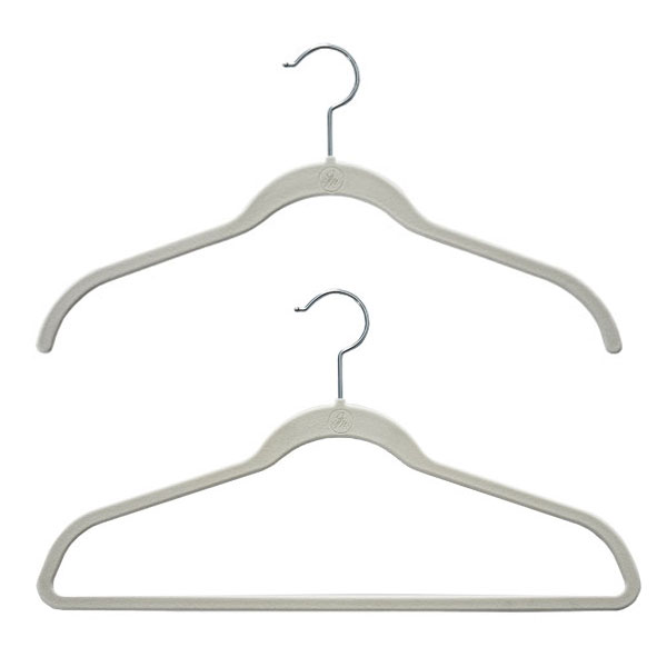 These hangers will maximize the space in your closet or entryway.