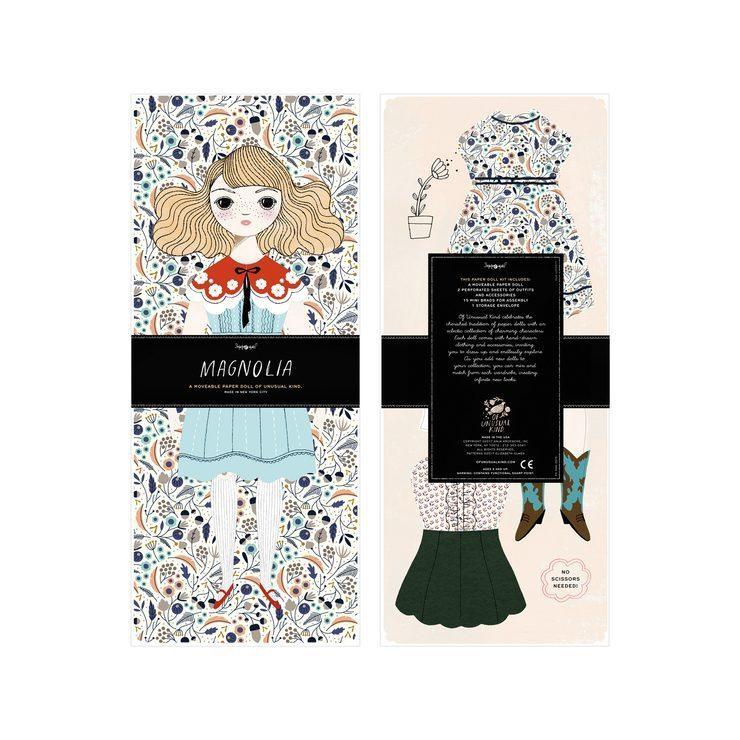 Paper doll kit, $32