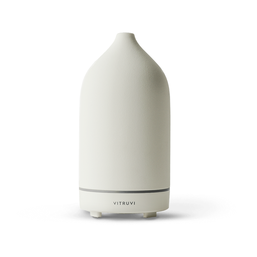 The diffuser that's taking the wellness scene by storm. We diffuse the Boost blend in the mornings, and Quiet at night. Bliss.