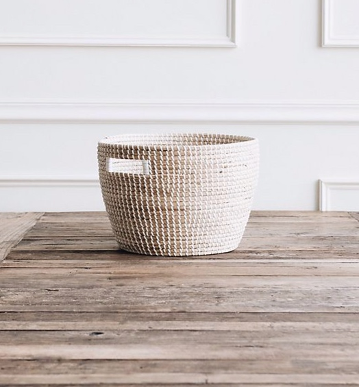 We love a woven storage basket to store blankets and magazines.