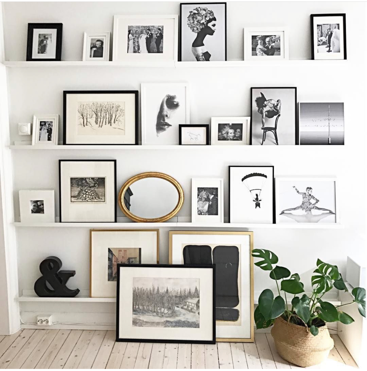 - This is a quick fix but an effective one. One or two new pieces (they don't have to break the bank) go a long way to freshening up a space. We LOVE a gallery wall. If you're nervous about committing (and we hear you), we recommend these fantastic gallery wall shelves. You can mix and match your art without ever having to hammer in a picture hook. Perfect for the easily bored/inspired…!(photo credit: Marianne Magraff)