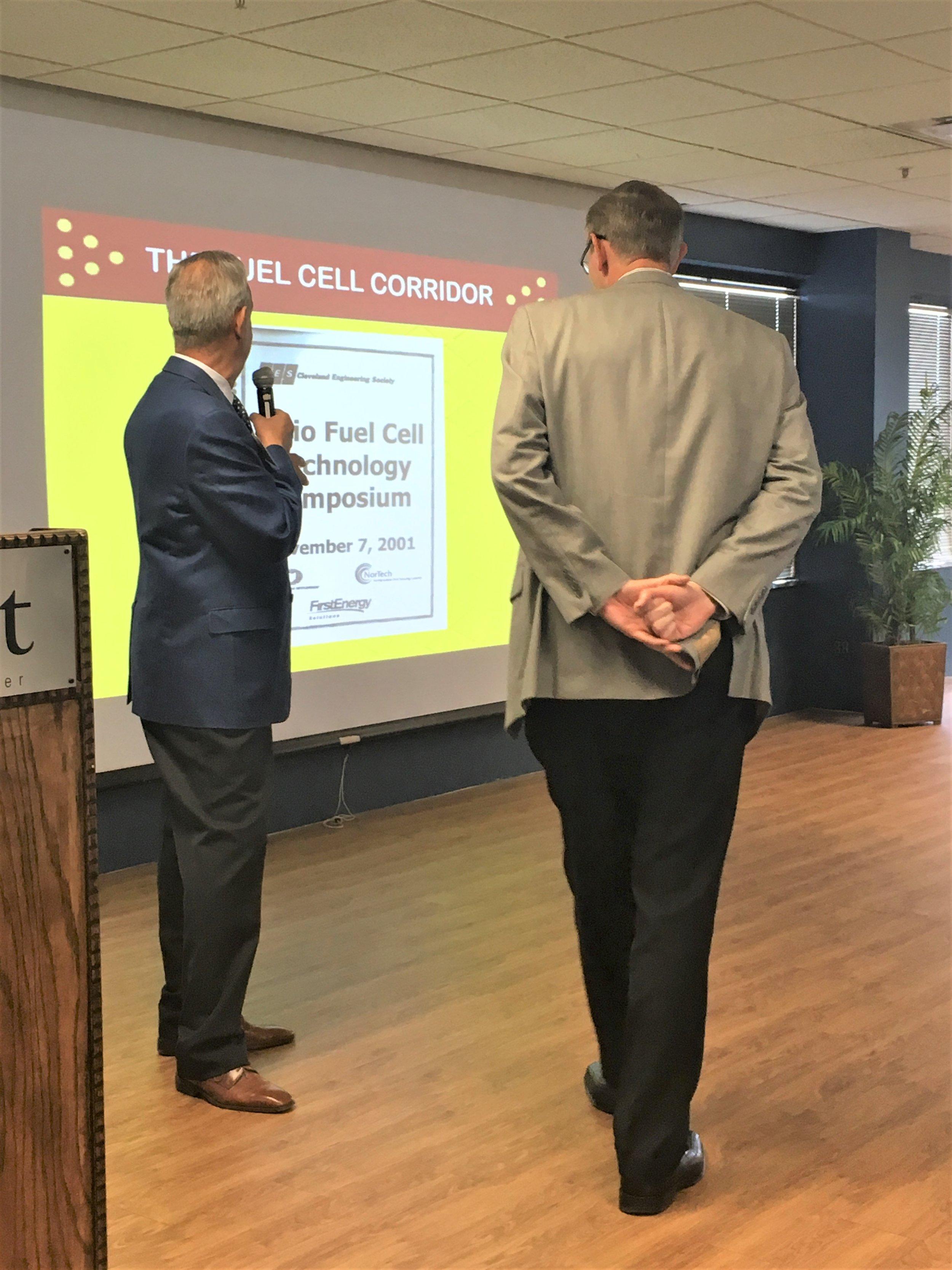 Mike McKay - ODSA receiving OFCC Leadership Award