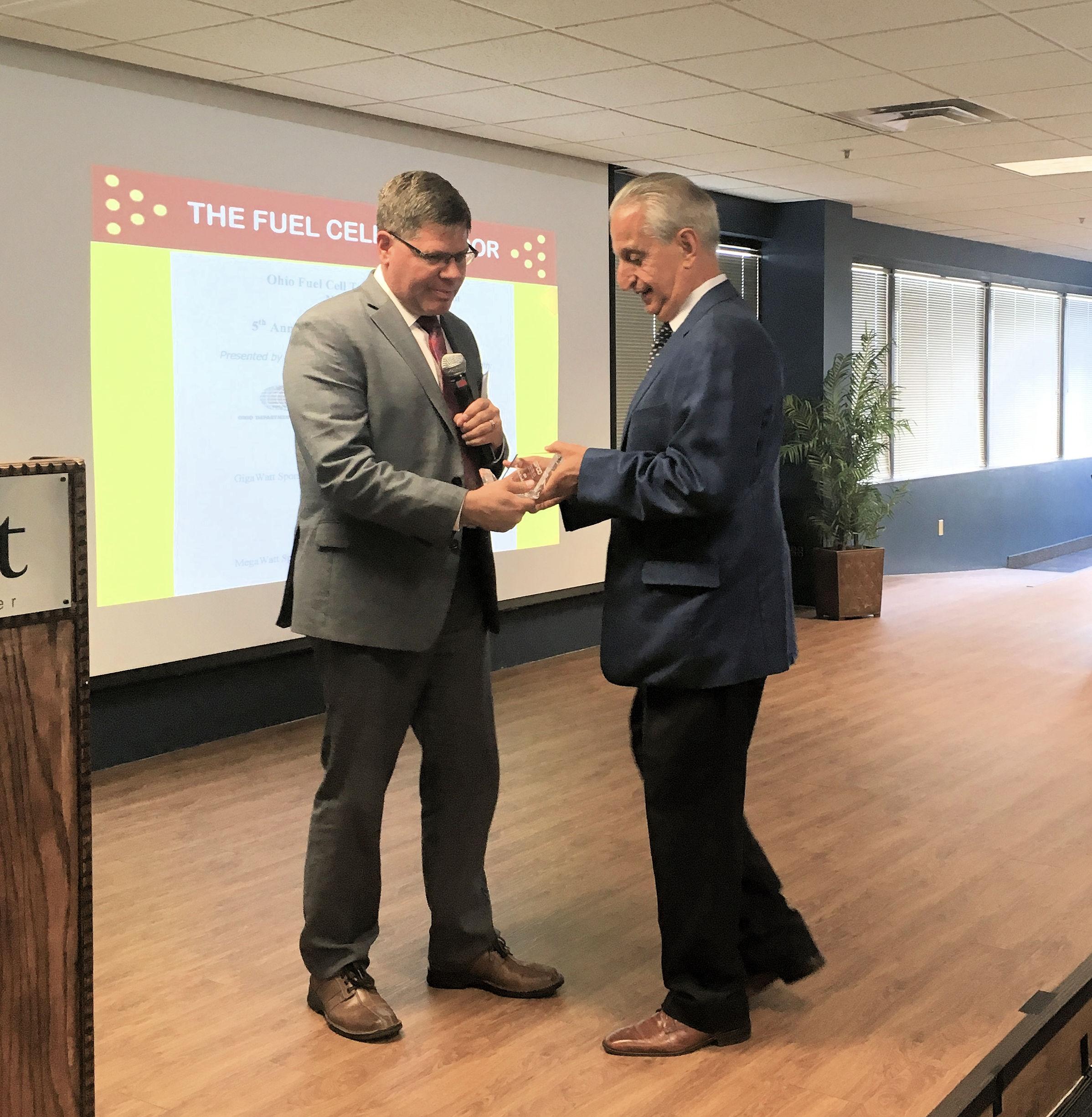 Pat Valente - Dedication & Leadership Award w/K. Conrad