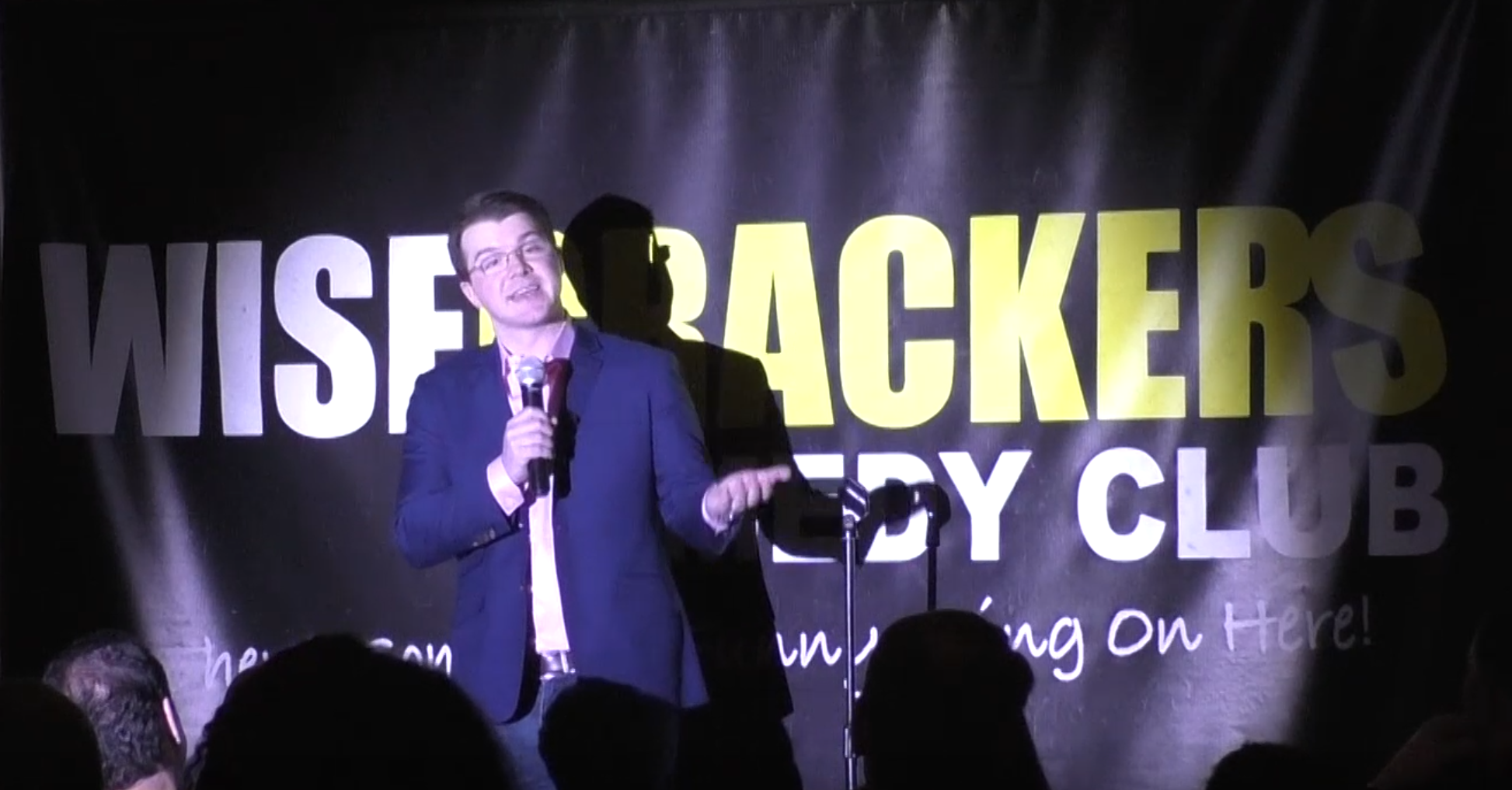 Clinton Ware at Wisecrackers Comedy Club.PNG