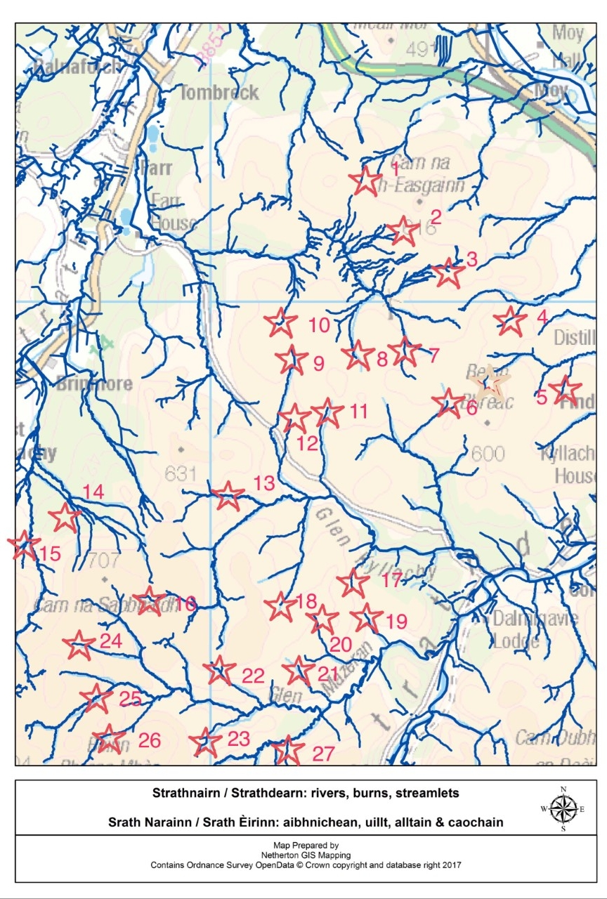 Thanks to Jillian MacLennan for helping produce this map highlighting watercourses.