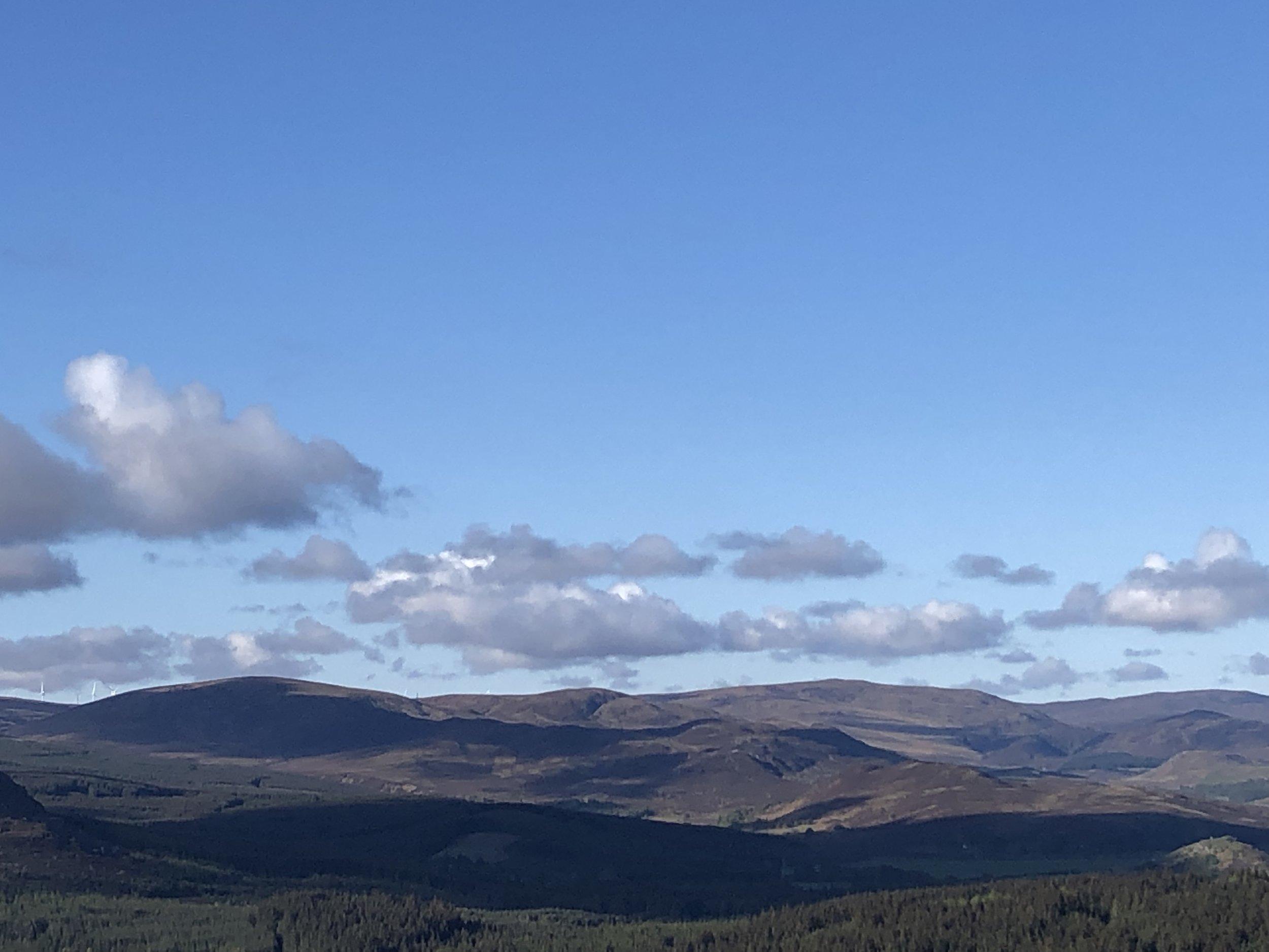 Looking South from Creag an Dubhair / creag an tuathan towards the Monadh Liath