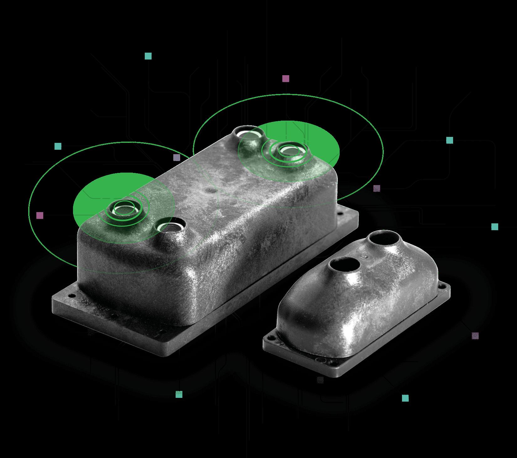 Smarta sensorer - 2 typer av ultraljudssensorer gör det möjligt att övervaka alla typer av avfall i kärl av olika typer och storlekar. De är robusta, vatten- och stötsäkra och kan anslutas till alla nuvarande tillgängliga IoT-nätverk och / eller GMS.Realtidsdata på fyllnadsnivåer i kärl