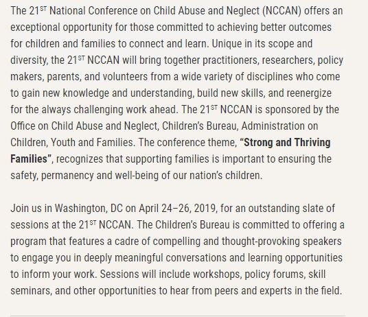 For more information:  http://www.nccan21.com/register.html