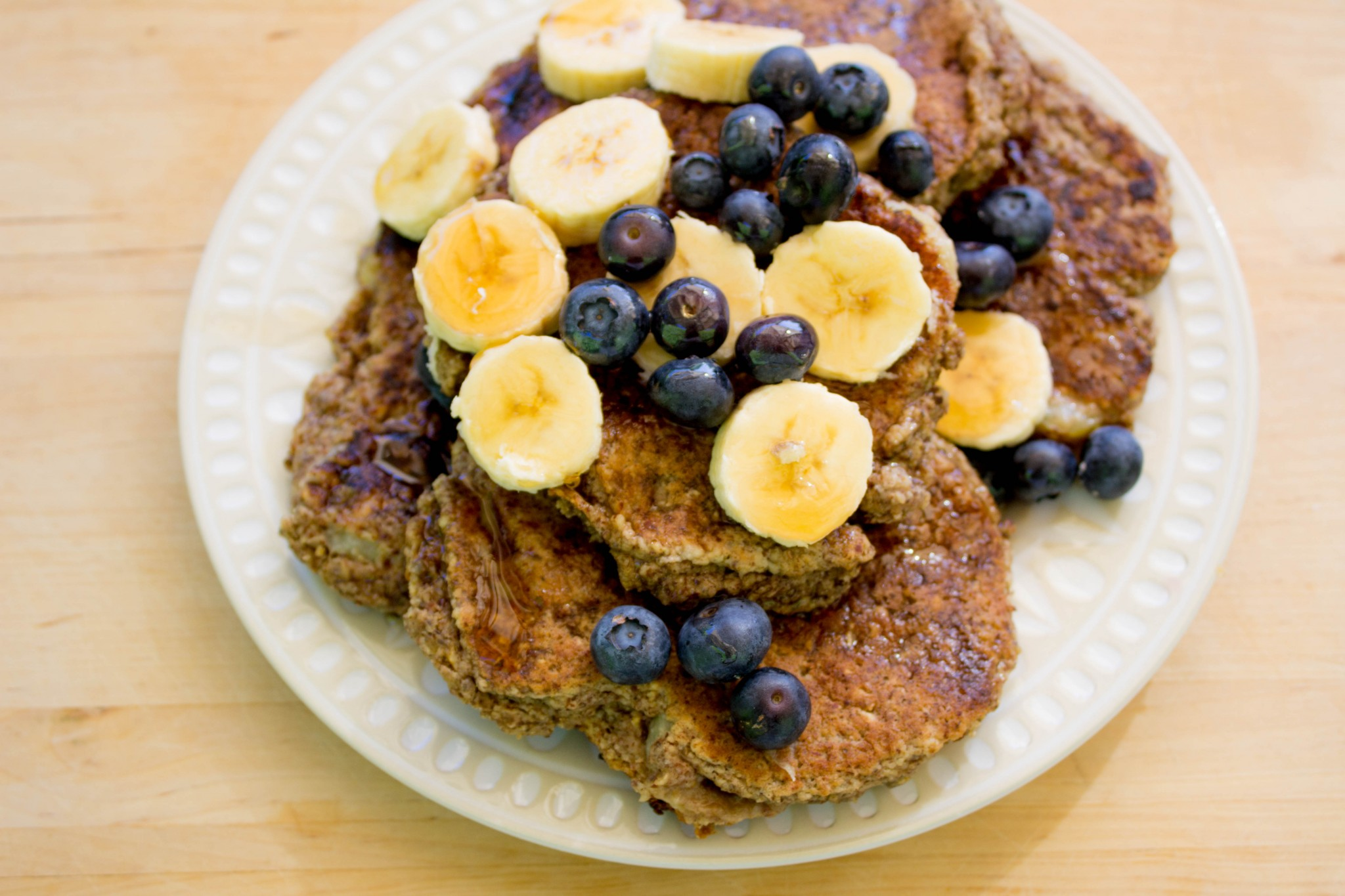 Almond Butter Banana Pancakes - Carolyn's Pantry