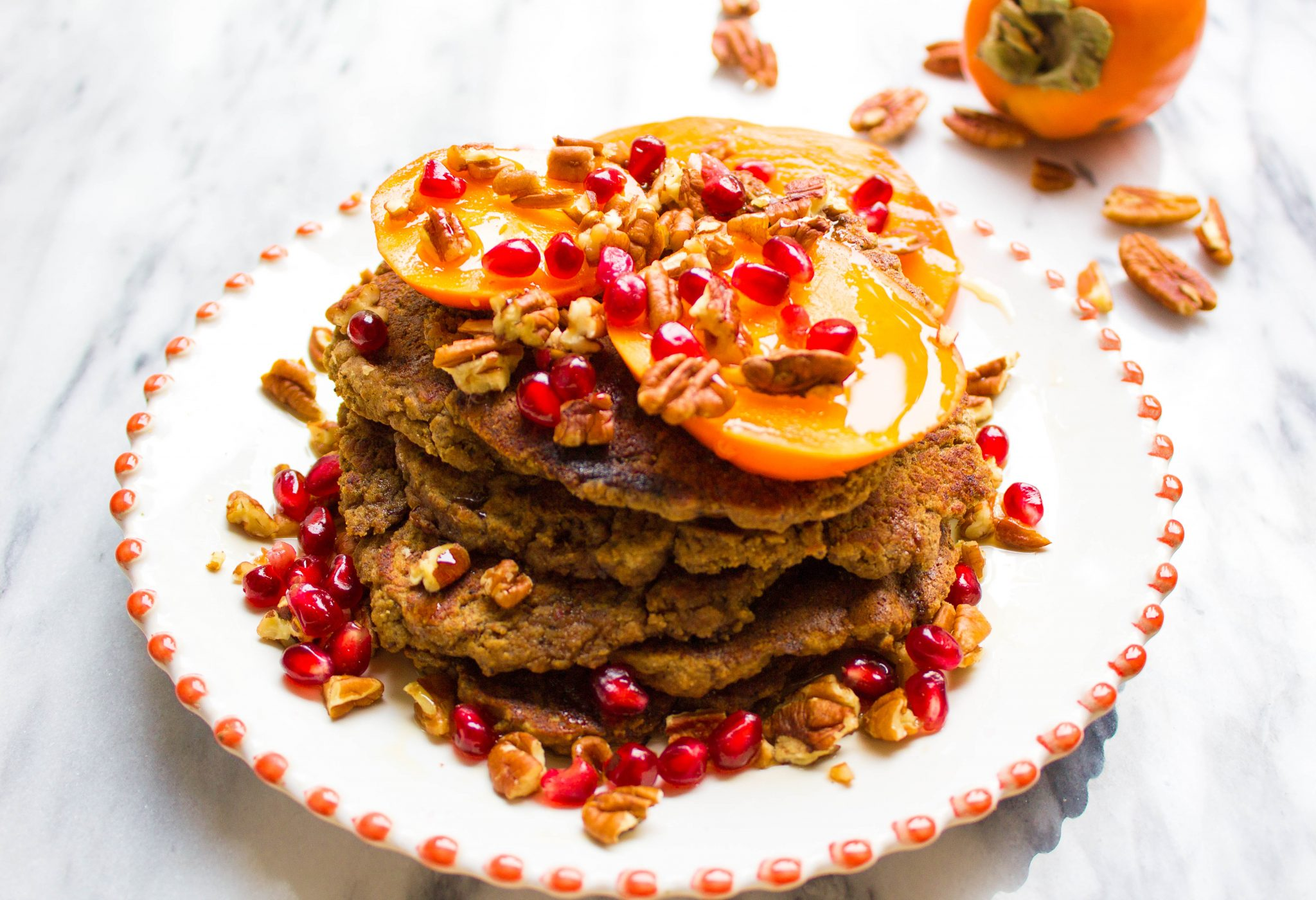 Coffee-Spiced Persimmon Pancakes