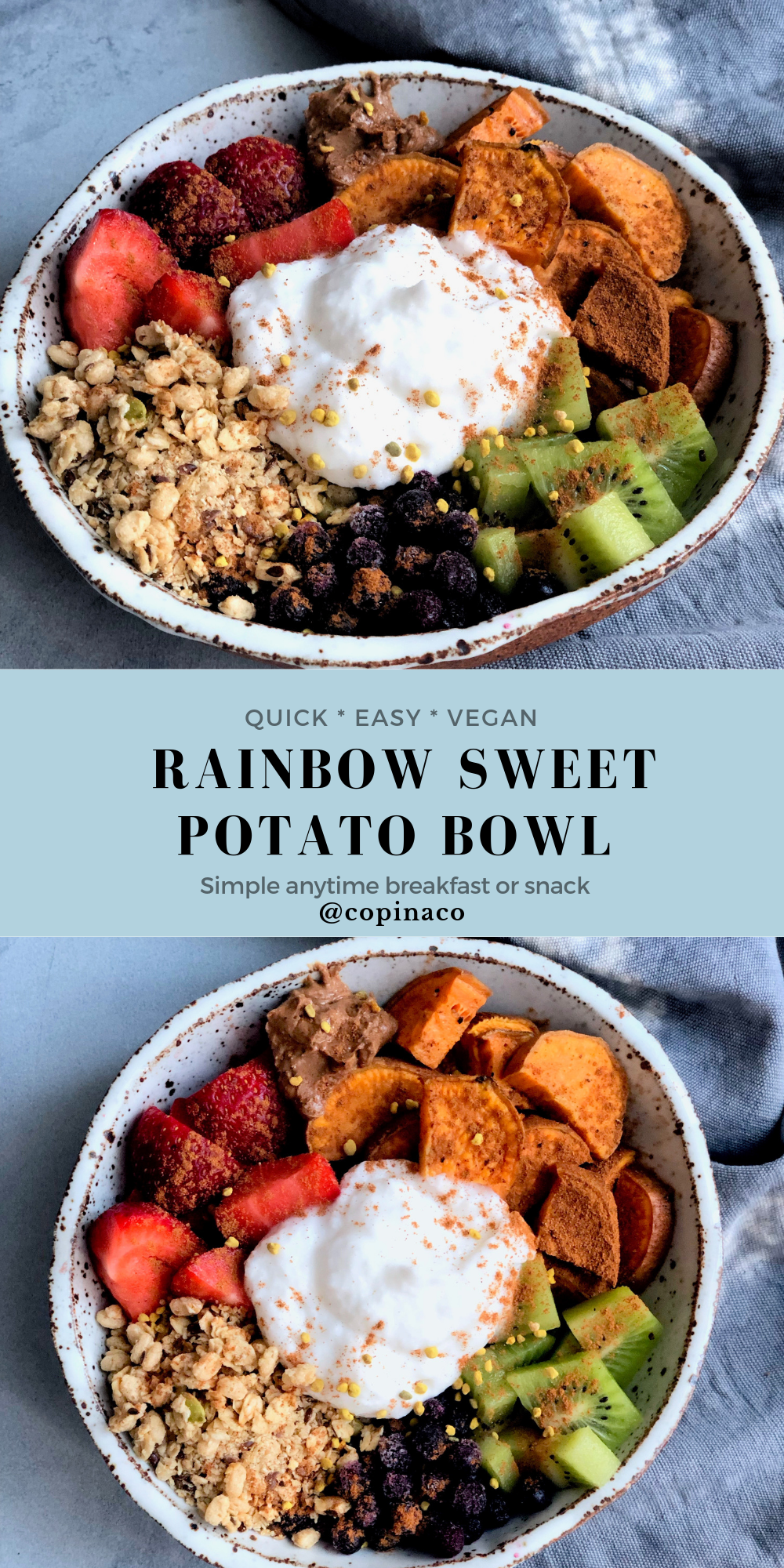 Vegan Sweet Potato Breakfast Bowl Copina Co.