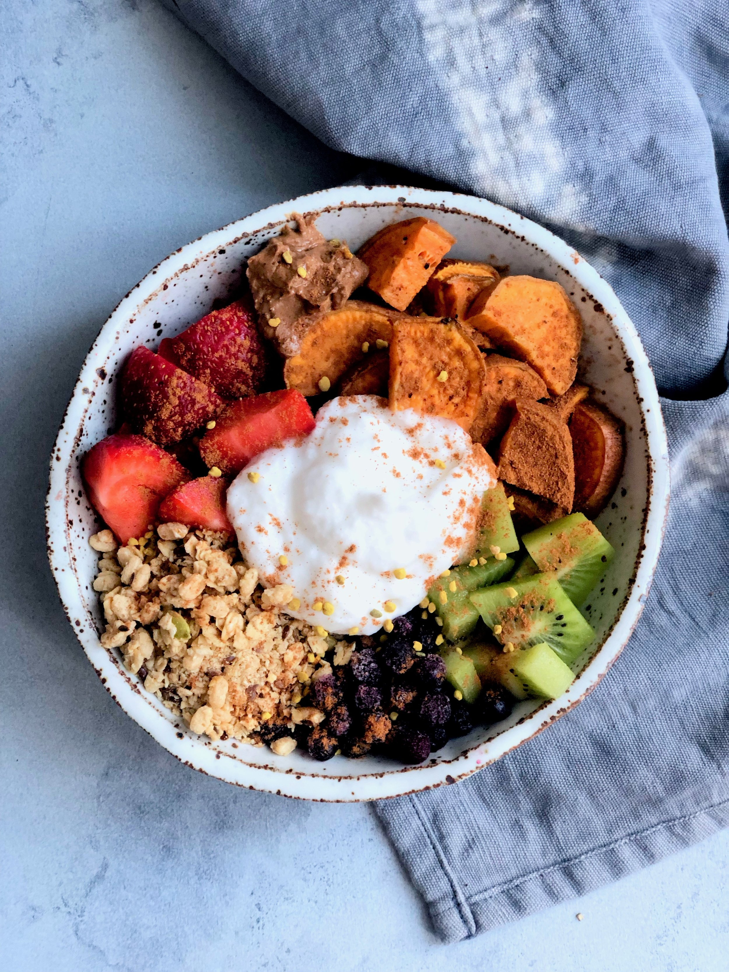Vegan Rainbow Sweet Potato Breakfast Bowl Copina Co.