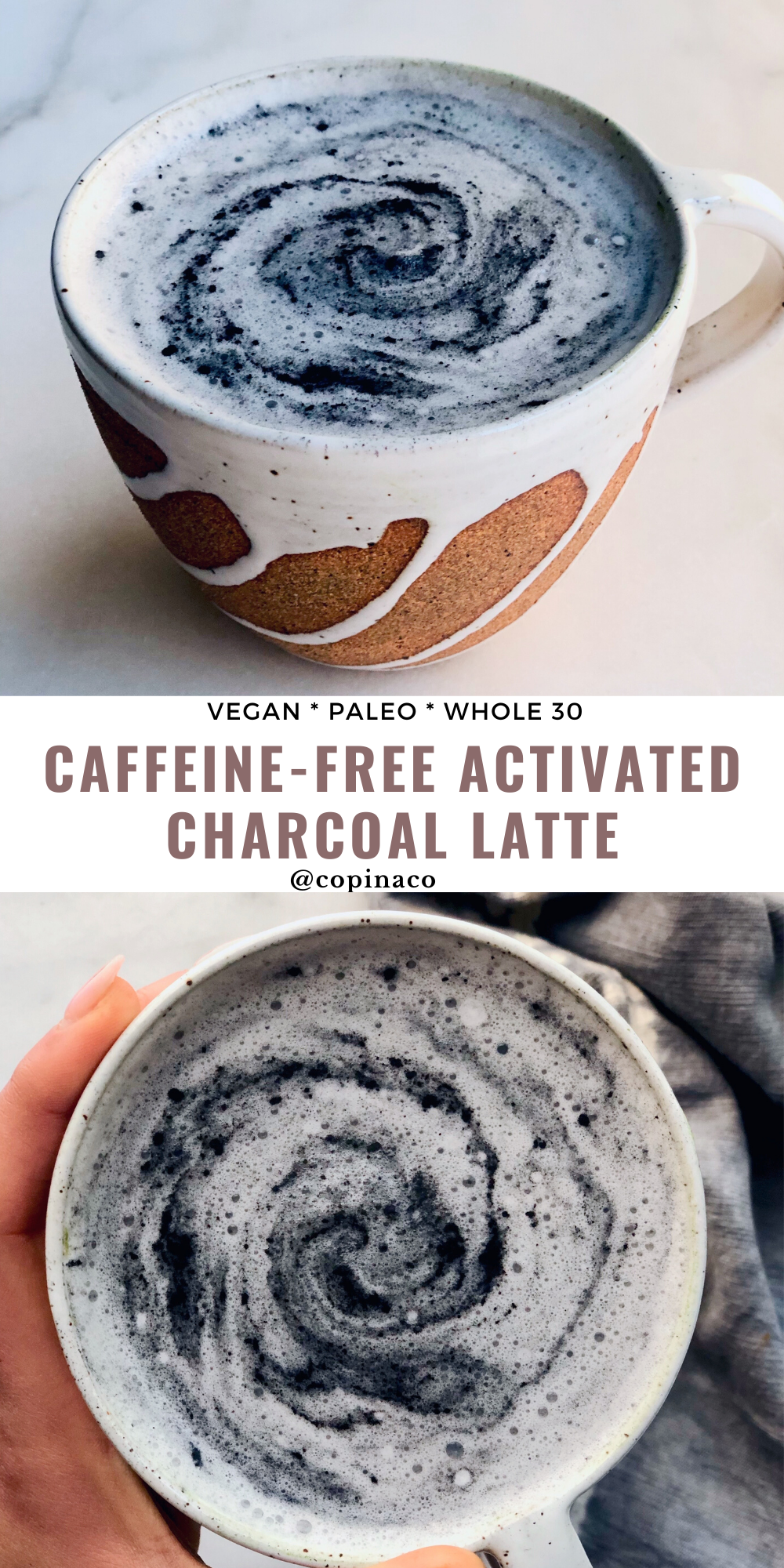 Caffeine-Free Activated Charcoal Detox Latte