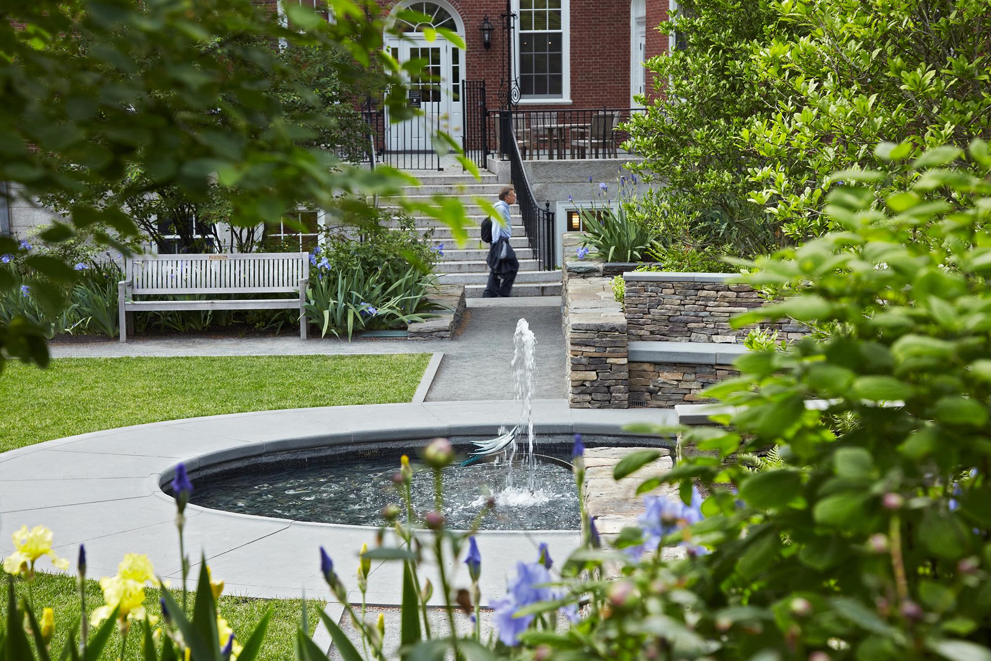 Fountain Restoration  Radcliffe Sunken Garden Cambridge, MA