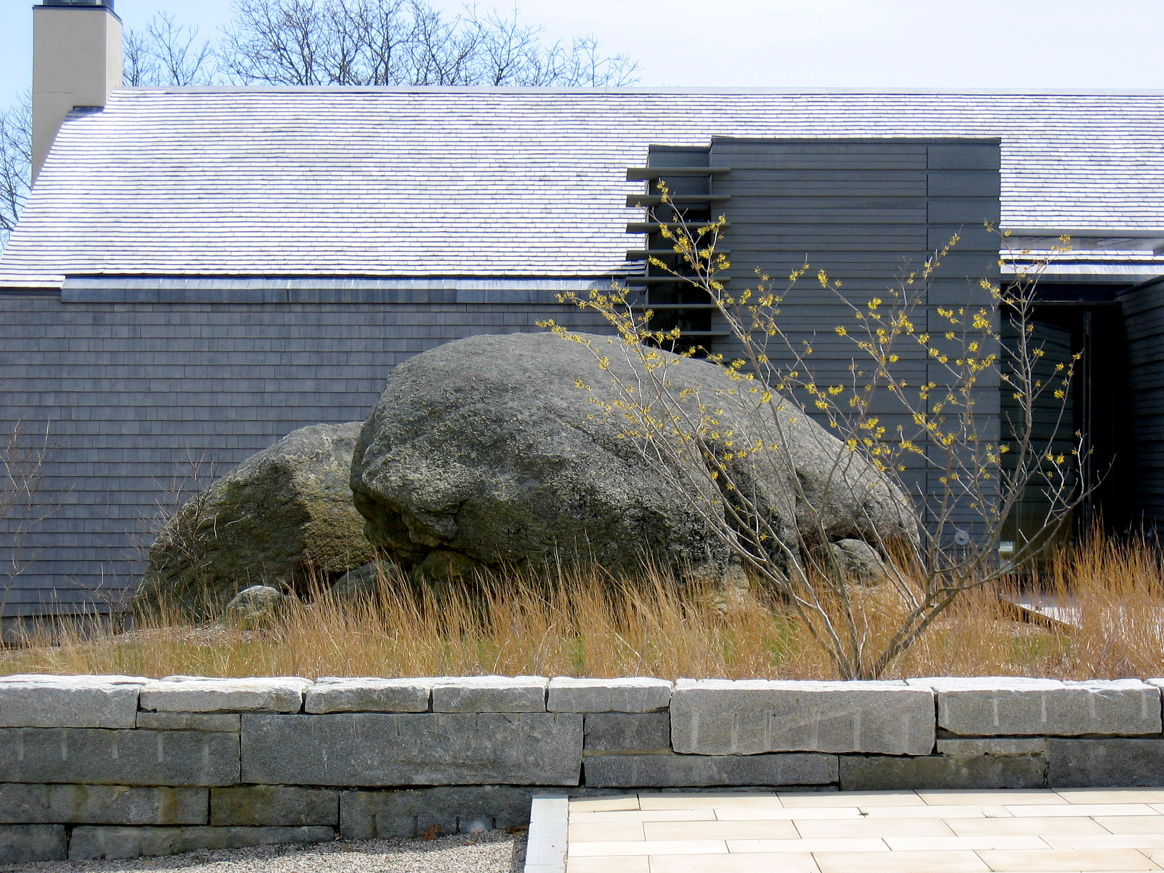 Boulder + Granite wall  Chilmark, MA