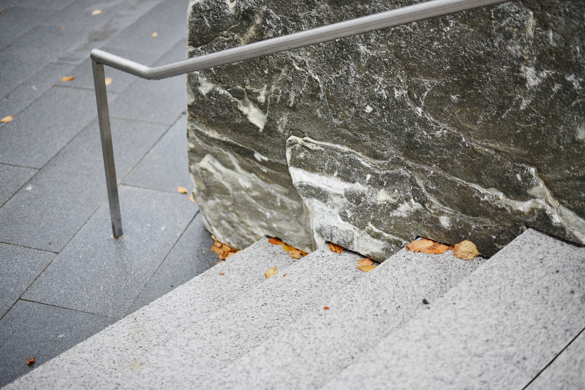 Granite Steps and Marble Wall at the Ledges Williams College Williamstown, MA