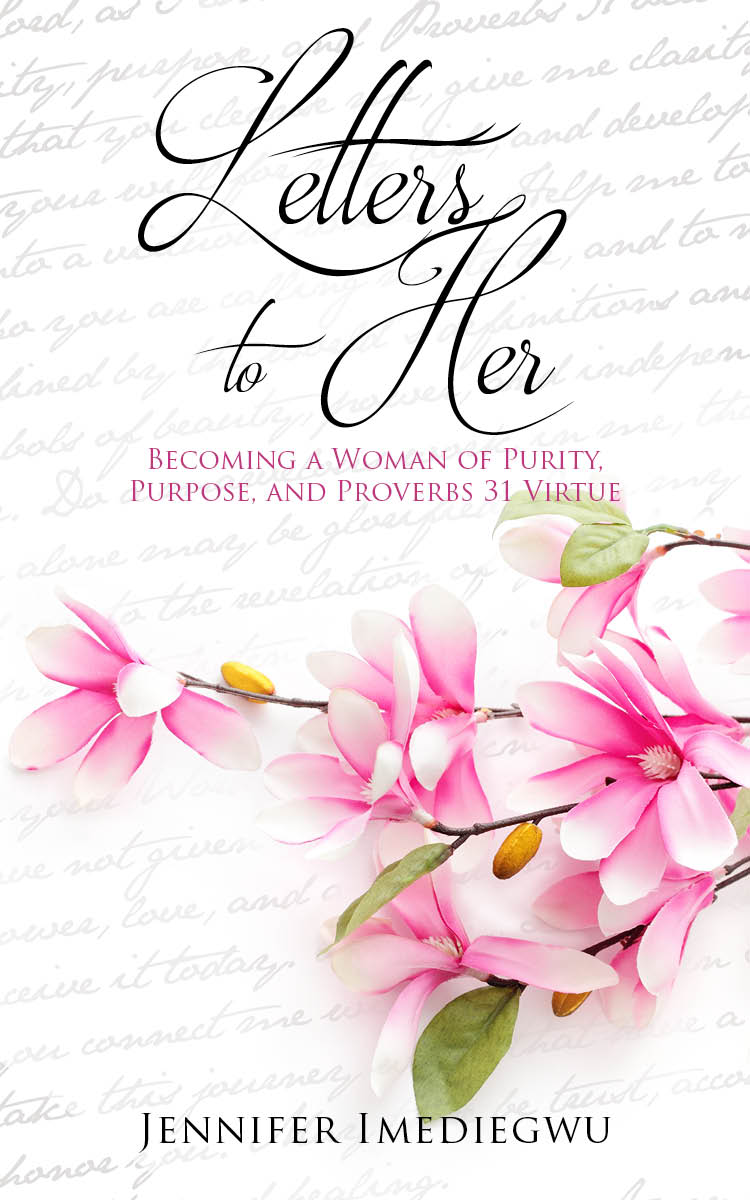 Book cover for Letters to Her, a book written by Jennifer Imediegwu.