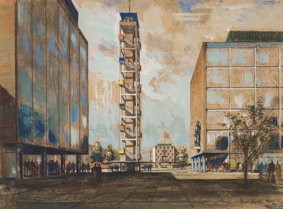 Design for Basildon New Town, Sir Basil Spence, 1955 -