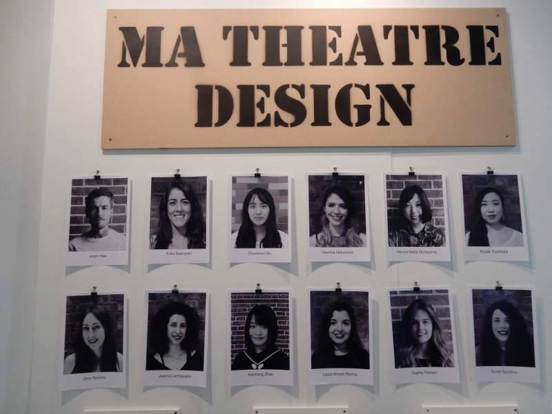 UAL Wimbledon MA Theatre Design students 2017
