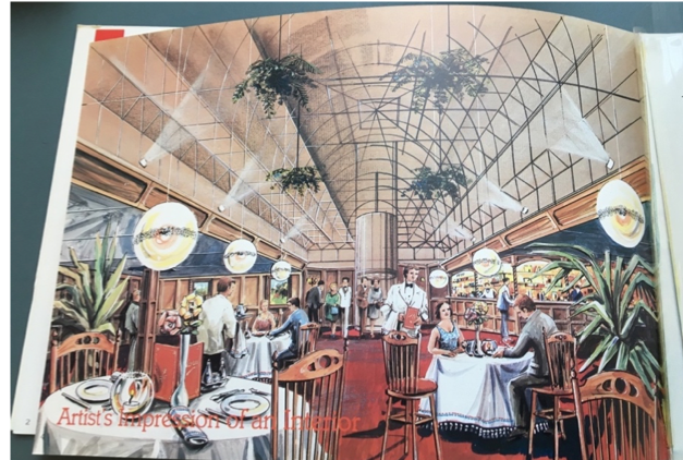 Artist's impression of the 'luxury' dining experience to be provided by the 'Restaurant on the World'
