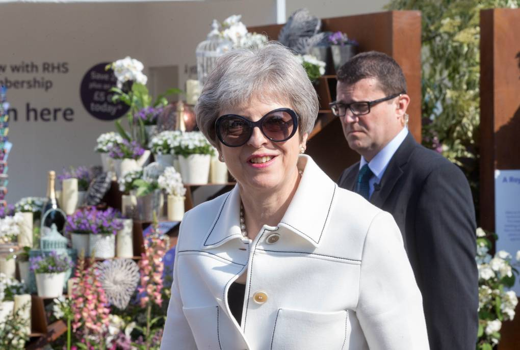Prime Minister, Theresa May, visits The RHS Chelsea Flower Show with her husband Philip MARK THOMAS/REX/SHUTTERSTOCK