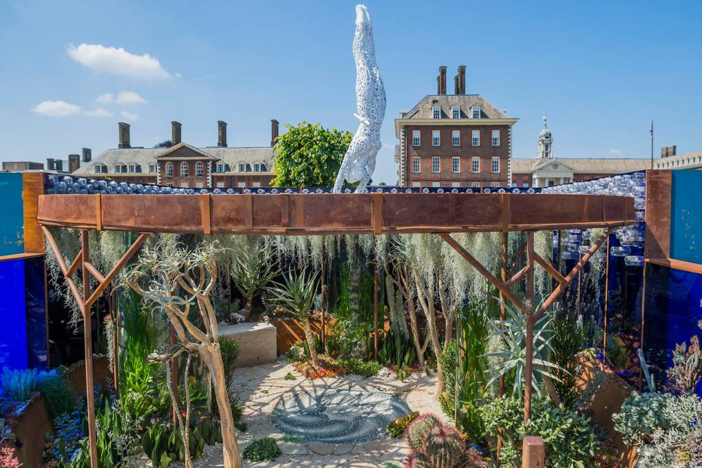 THE PEARLFISHER GARDEN  The Pearlfisher Garden, which aims to publicise the issue of plastic waste. Sponsor: Pearlfisher, Designer: John Warland, Contractor: The Garden Builders  GUY BELL/REX/SHUTTERSTOCK