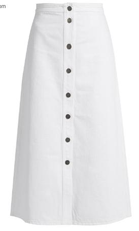 ASOS White Midi Skirt, £16