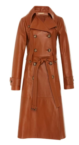 MICHAEL KORS Long Leather Trenchcoat