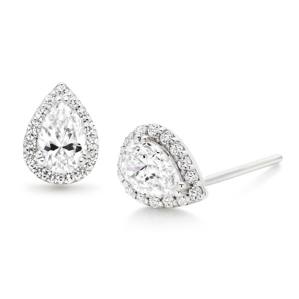 BEAVER BROOKS 9ct Diamond Earrings, £175