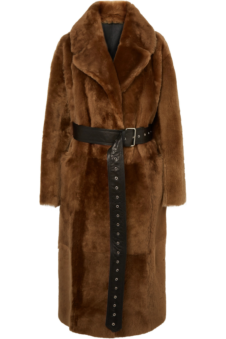 COMMON LEISURE Love oversized belted shearling coat, £2,985