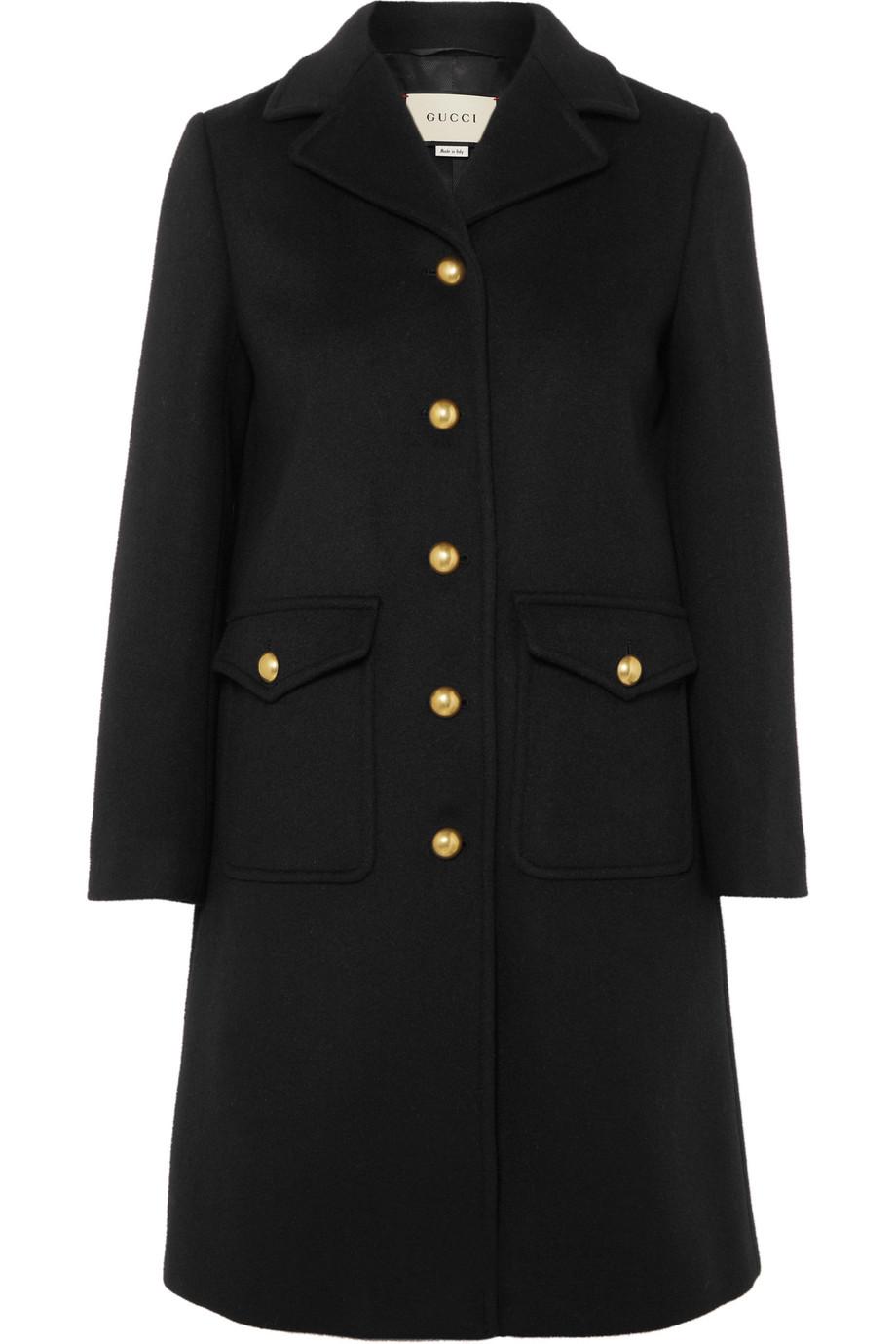 GUCCI Embellished wool-felt coat, £1,800