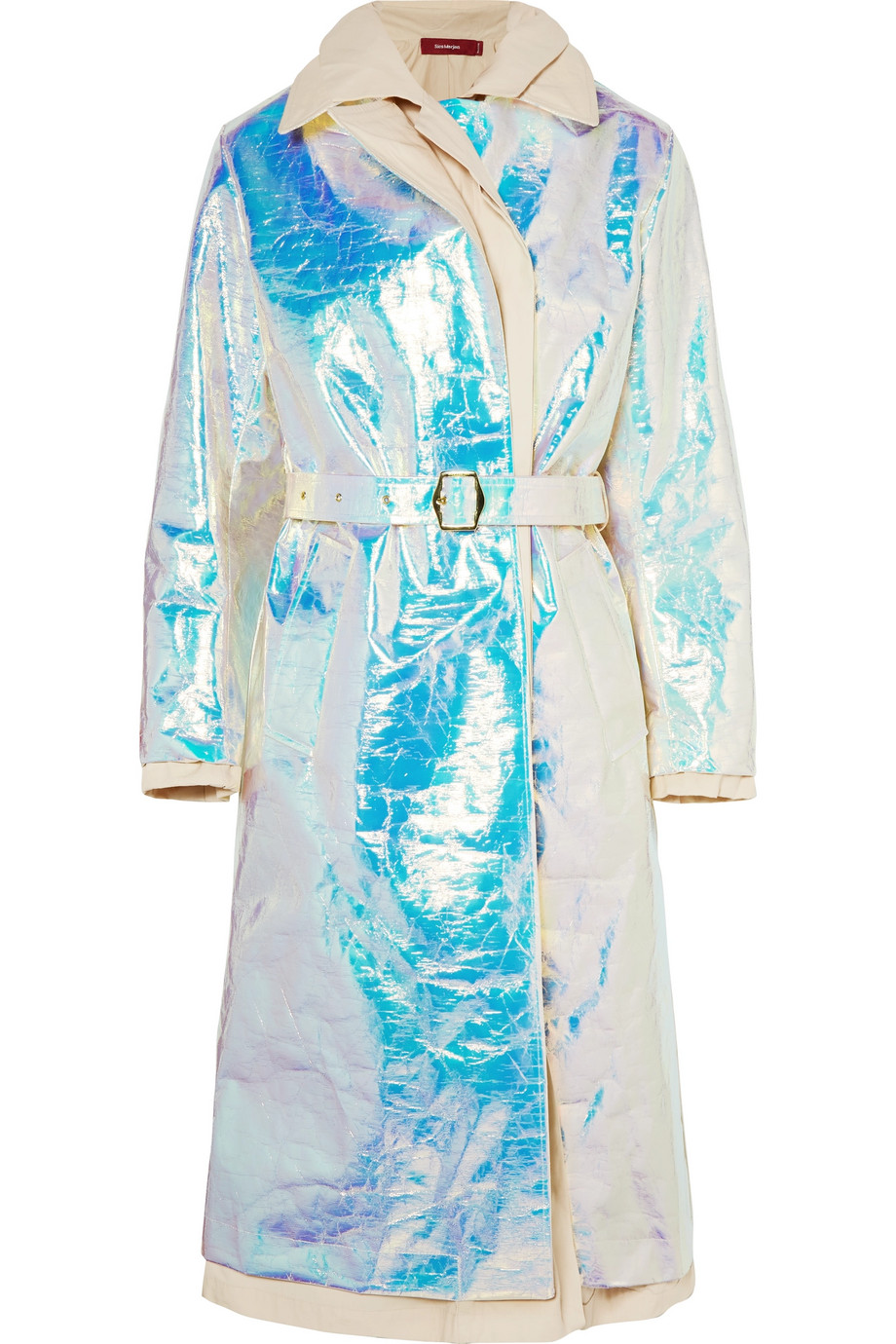 SIES MARJAN Devin layered iridescent coated-shell and cotton-canvas trench coat, £1,330