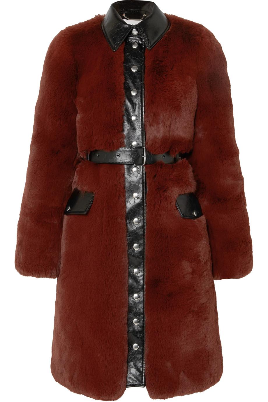 SONIA RYKIEL Belted faux fur coat, £1,975