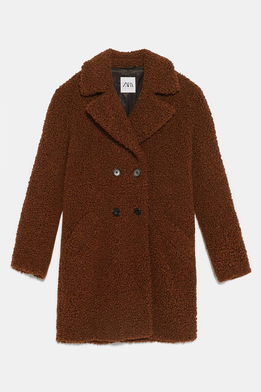ZARA Teddy Coat, £89.99