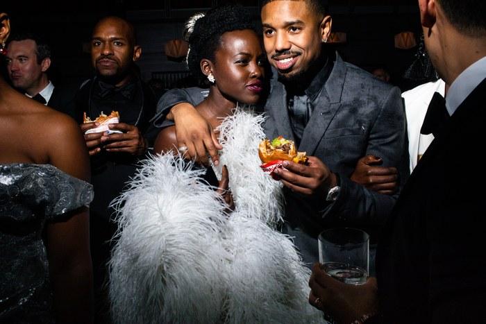 Lupita Nyong'o and Michael B. Jordan. Photo: Landon Nordeman