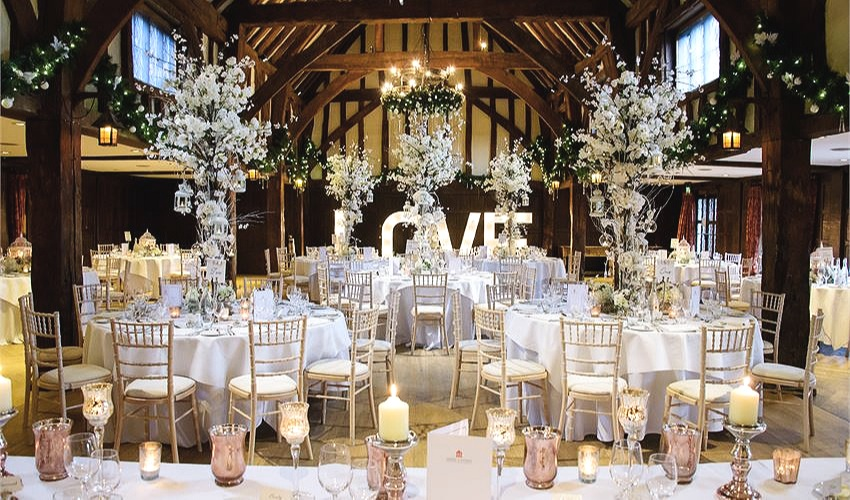 Image: The Tithe Barn, Great Fosters