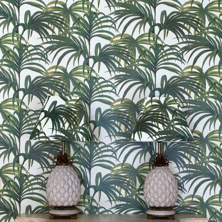 House of Hackney 'Palmeral' print in Off White & Green. Image: People of Print