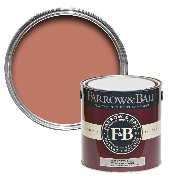 Farrow & Ball 'Red Earth' paint colour no.64. Image: farrow-ball.com