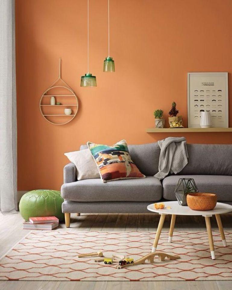 Terracotta Living Room inspiration. Image: livingroomideas.eu