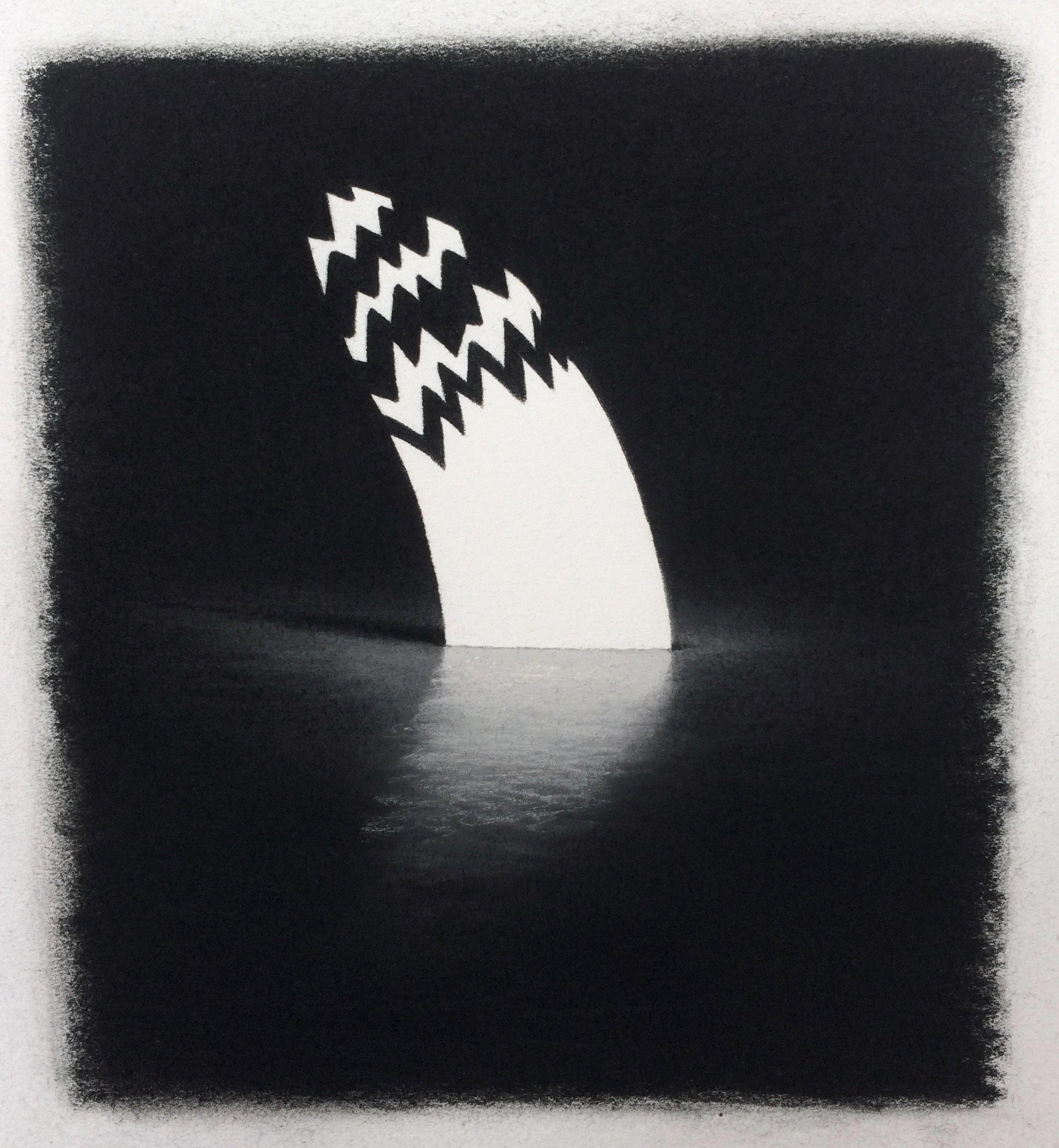 """Serpentine , Pastel on Paper, 9""""x8"""", 2018"""
